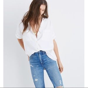 Madewell Courier Oversized Button Down Shirt